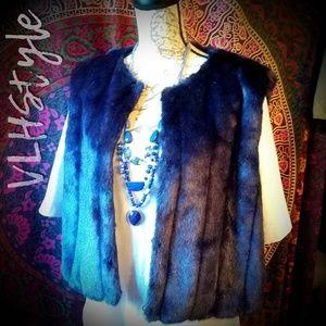 Boho Glam Royal Blue Faux Fur Vest